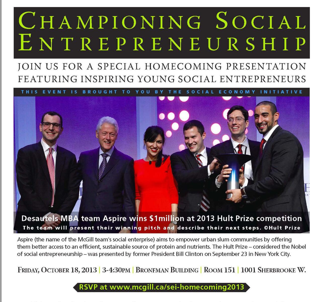 Championing Social Entrepreneurship