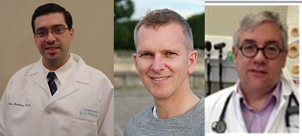 Dr Sero Andonian, Dr Joseph Cox et Dr Douglass Dalton