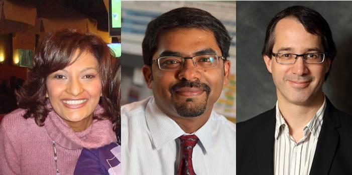 Gauche-droite: Dre Amira El-Messidi, Dr Madhukar Pai, Dr Philippe Archambault