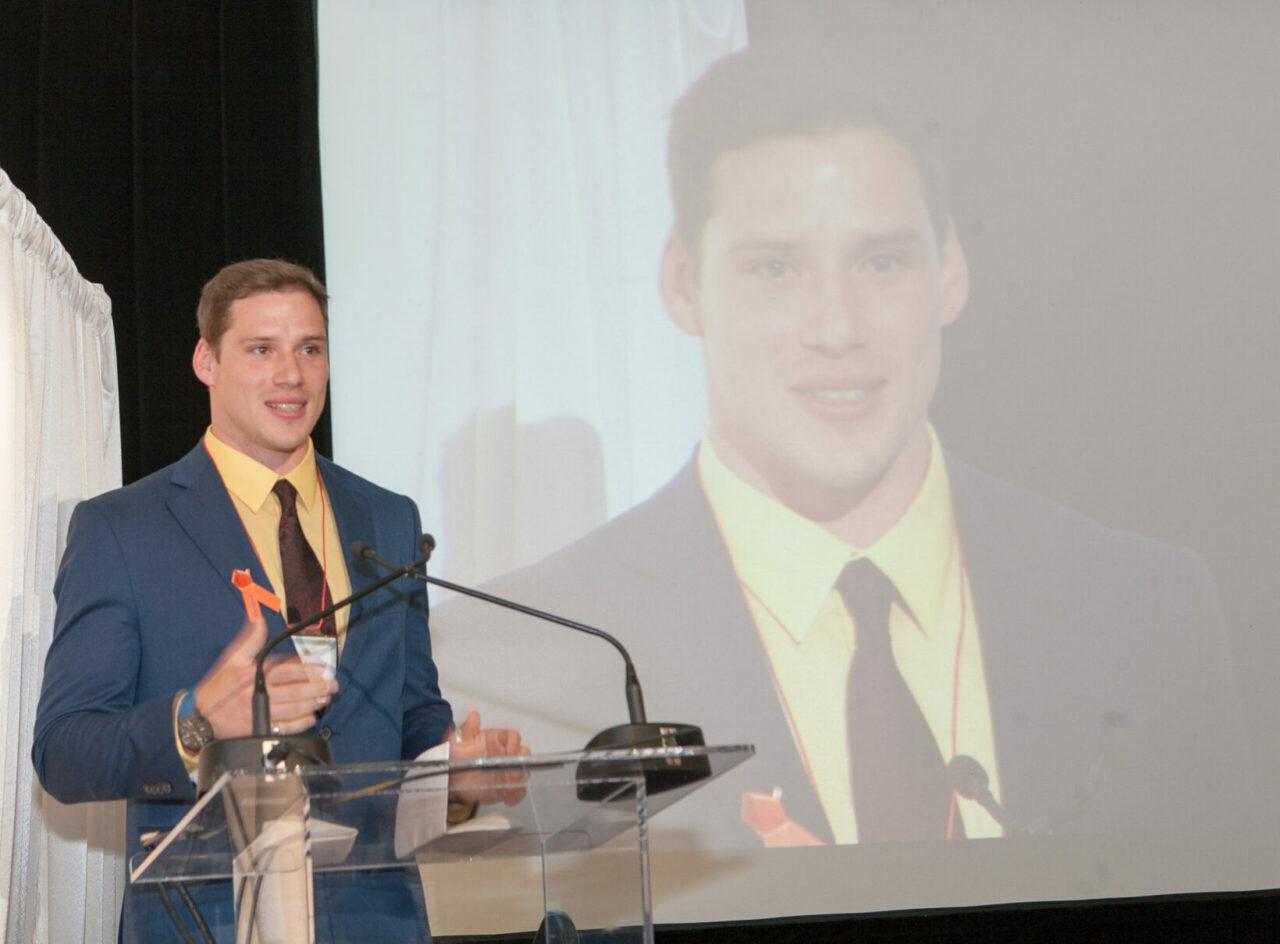 Nathaniel Robichaud, premier lauréat de la Bourse commémorative Rosalind Goodman. (Photo: Ron Diamond)