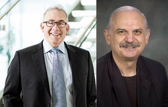 Dr Ronald Gottesman (g) et Dr Constantin Polychronakos (d)