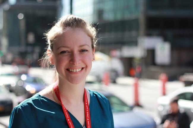 Amanda Camacho, infirmière à l'USIN. / Photo: Eliane Leroux-Lafortune